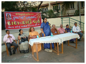 Adv. Sumedha Rao Addressing Senior Citizens